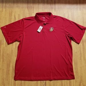 The Marines Antigua Golf Red Polo Shirt Men's 2XL
